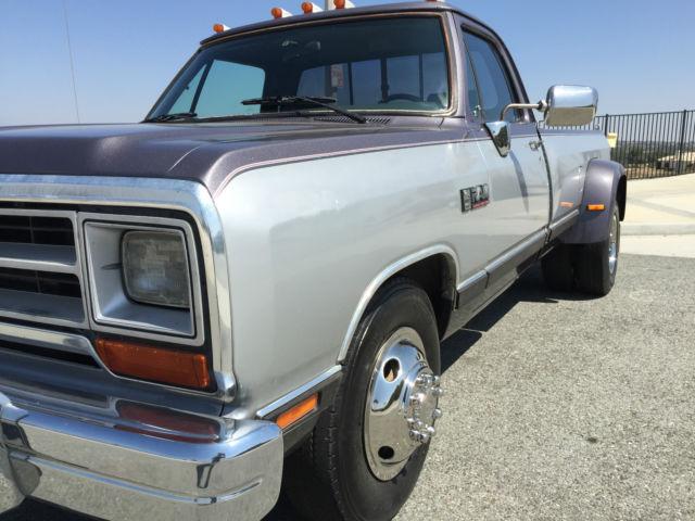 dodge other pickups standard cab pickup 1990 for sale 1b7me3684ls637435 clean and low mile 1990. Black Bedroom Furniture Sets. Home Design Ideas
