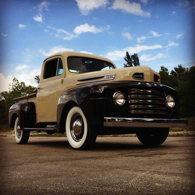 ford other pickups pickup truck 1948 tucson tan and luster black for sale complete restoration. Black Bedroom Furniture Sets. Home Design Ideas