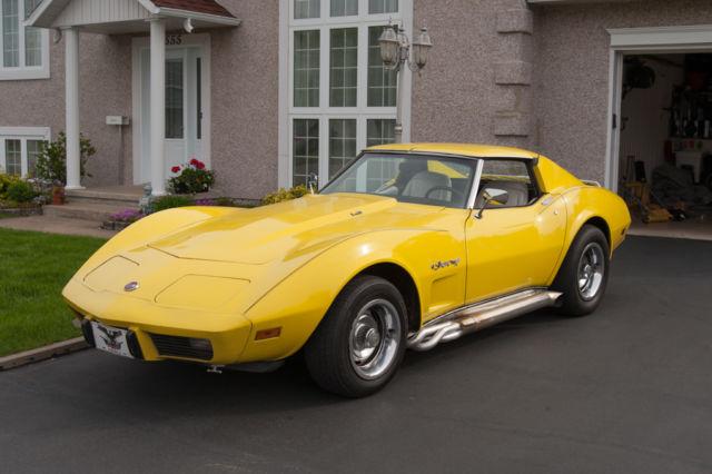 chevrolet corvette convertible 1976 yellow for sale 1z3716s412746 corvette stingray l48 1976. Black Bedroom Furniture Sets. Home Design Ideas