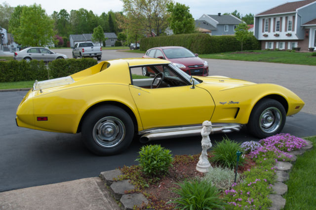 Chevrolet Corvette Convertible 1976 Yellow For Sale
