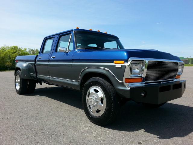 ford f 350 crew cab pickup 1979 blue gray for sale f35jcdg4781 cummins diesel 1979 ford f 350. Black Bedroom Furniture Sets. Home Design Ideas