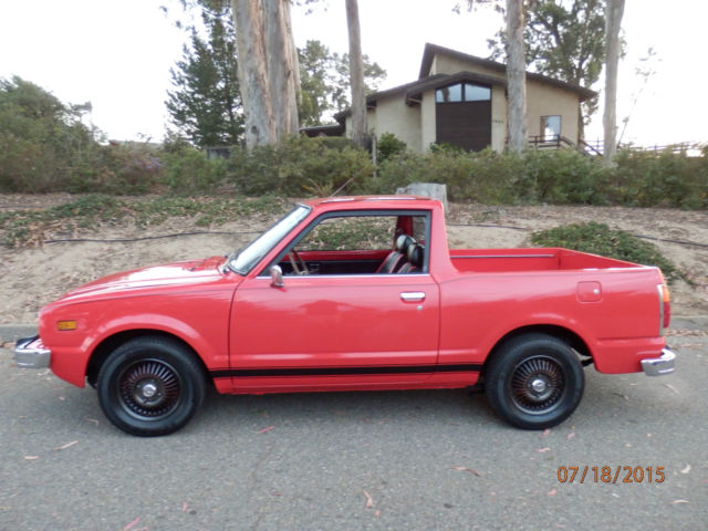 honda civic custom pickup truck 1977 red for sale. Black Bedroom Furniture Sets. Home Design Ideas