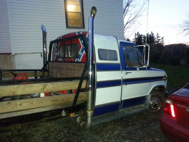 Ford F-350 Extended Cab Pickup 1978 Blue For Sale  E37AHCC4184