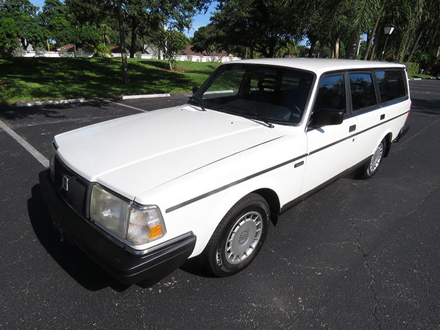 Volvo 240 Wagon 1992 White For Sale. YV1AW8801N1928014 EXCELLENT 1992 Volvo 240 Wagon - Florida ...