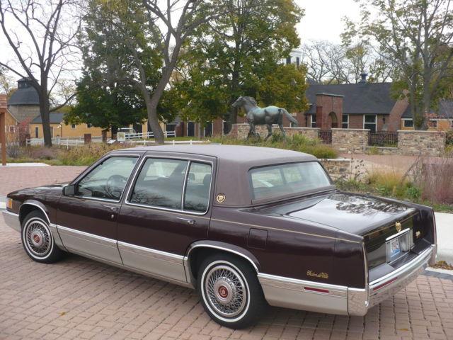 Cadillac Deville Fouer Door Sedan 1991 Dark Auburn For