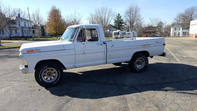 Ford F  Standard Cab Pickup  White For Sale Y T F Camper Special White Great Shape Runs Great No Leaking Or Burning Oil