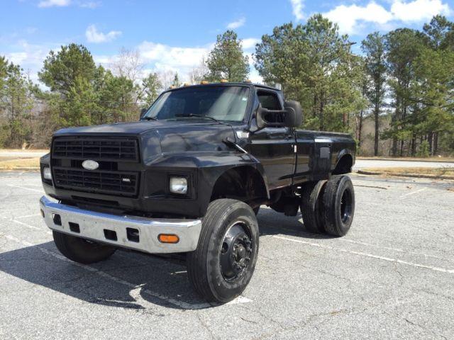 Ford Other Standard Cab Pickup 1991 Black For Sale. 1FDXK84A2MVA07367 F800 ford pickup custom truck