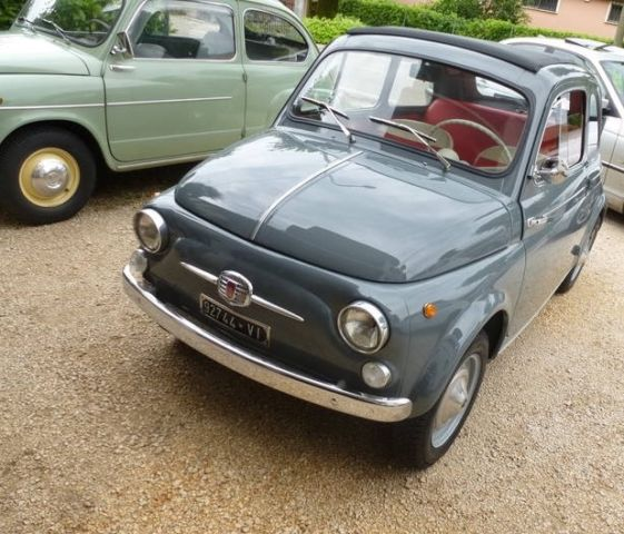 Fiat 500 Convertible 1963 Gray For Sale. [xfgiven_vin