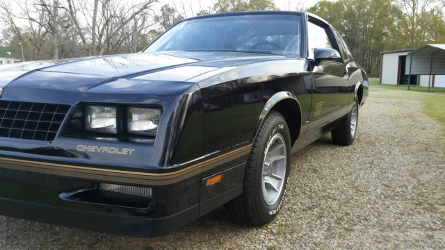 Chevrolet Monte Carlo Coupe 1987 Black For Sale 1G1GZ11G6HR110573 Flawless 87 SS