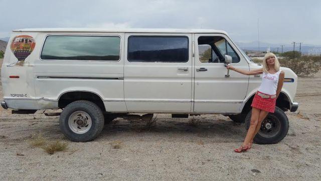 ford e series van van 1988 white for sale 1fbjs31m5jhb22166 ford e350 van 7 3 diesel barn find. Black Bedroom Furniture Sets. Home Design Ideas