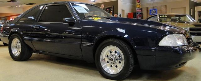 ford mustang coupe 1990 blue for sale 1facp41e6lf194633 ford mustang fox body 1990 very fast. Black Bedroom Furniture Sets. Home Design Ideas