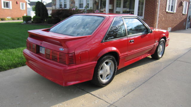 ford mustang hatchback 1992 red for sale 1facp42e9nf159957 ford mustang gt 5 0 fox body 1992. Black Bedroom Furniture Sets. Home Design Ideas