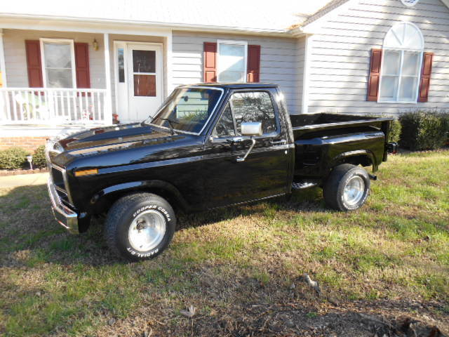 ford f 100 standard cab pickup 1980 black for sale ford shortbed truck 1980 stepside with flat tops. Black Bedroom Furniture Sets. Home Design Ideas