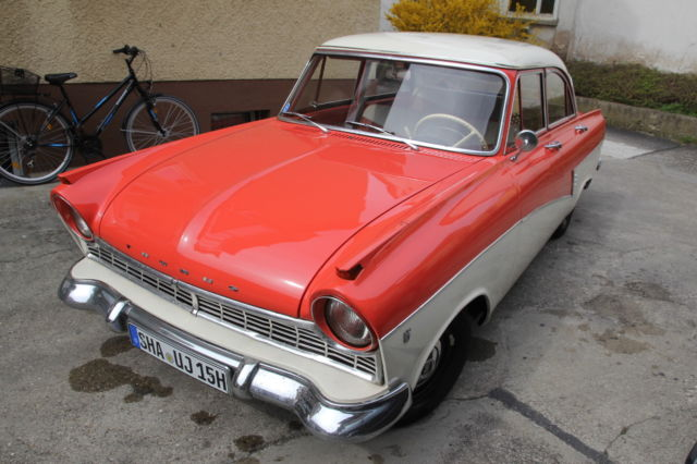 ford other sedan 1959 cream red for sale ford taunus 17m. Black Bedroom Furniture Sets. Home Design Ideas