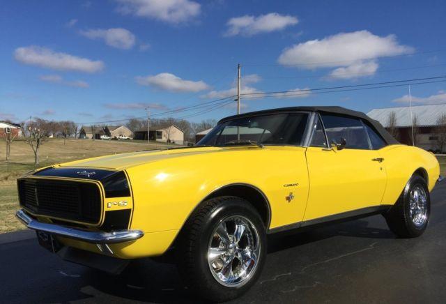 Chevrolet Camaro Convertible 1967 Yellow For Sale Frame