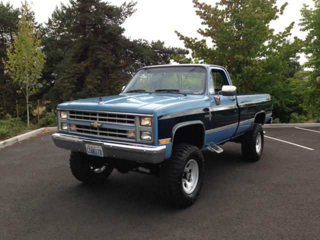 chevrolet silverado 2500 standard cab pickup 1987 blue for. Black Bedroom Furniture Sets. Home Design Ideas
