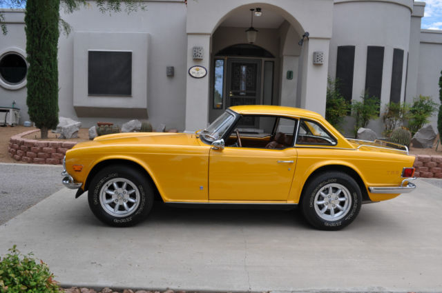 Triumph Tr 6 Roadster 1974 Inca Yellow For Sale Gorgeous 1974