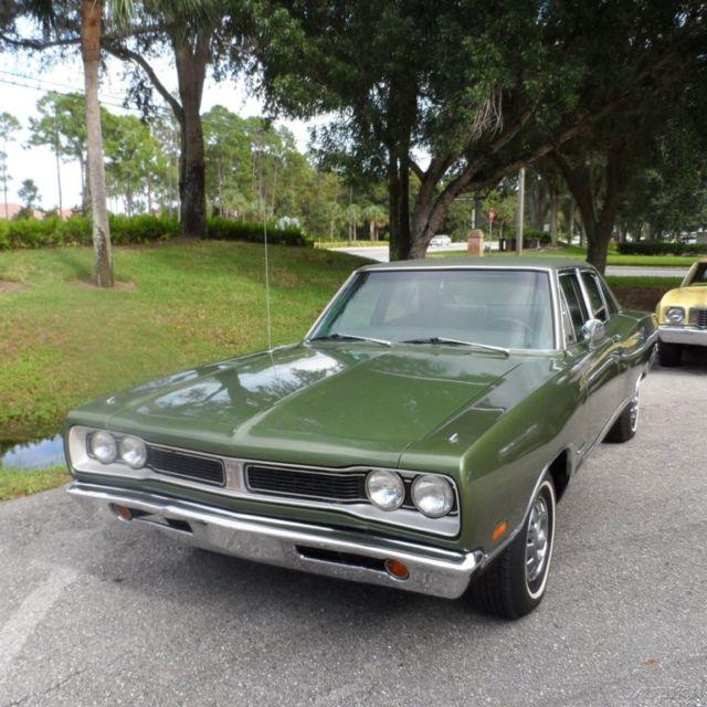 Dodge Coronet Sedan 1969 Green For Sale. WP41F9G142750