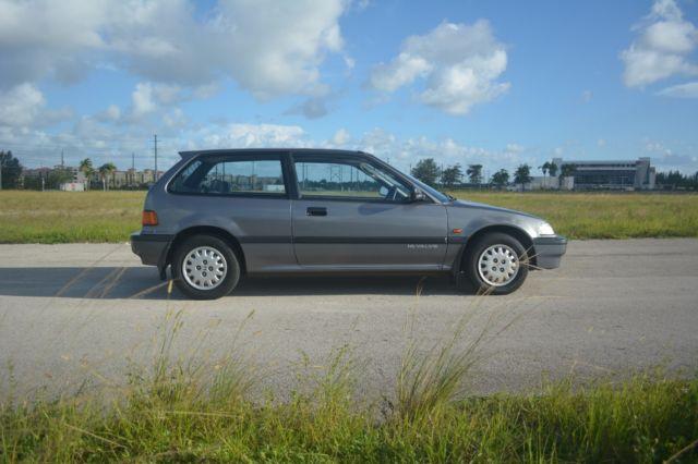 Honda civic hatchback 1988 gray for sale for Honda civic 1988