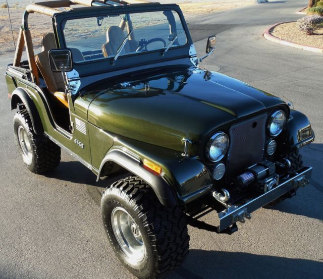 Jeep CJ Convertible with Full Soft Top and Soft Doors 1976 Dark
