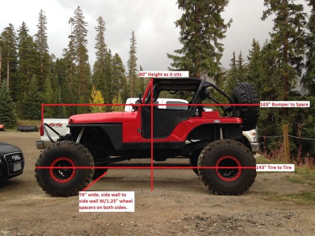 Jeep CJ 1980 For Sale  DMV5299INV JEEP MONSTER ROCK CRAWLER CJ5 BODY