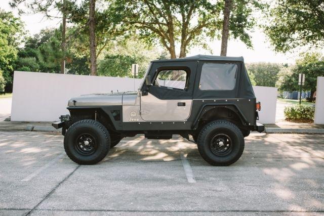 jeep wrangler suv 1990 green for sale 2j4fy49t4lj553874 jeep wrangler sahara yj 48k miles. Black Bedroom Furniture Sets. Home Design Ideas