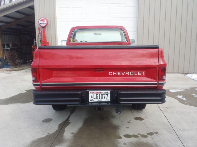 Chevrolet C K Pickup 2500 Standard Cab Pickup 1985 Red For