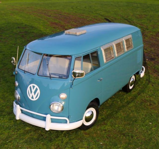 Where Can I Buy A Volkswagen Bus: Volkswagen Bus/Vanagon Van Camper 1965 Blue For Sale