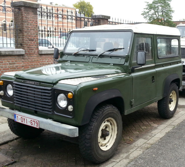 land rover defender wagon 1980 olive green for sale