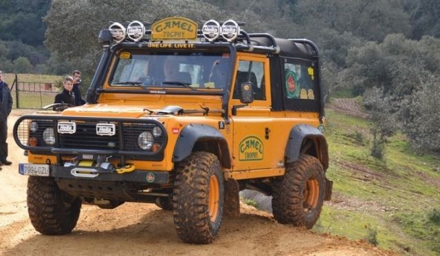 Land Rover Defender Convertible 1986 Yellow For Sale