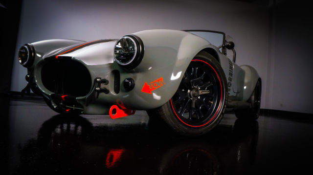 Shelby Backdraft Cobra Roadster 1965 Grigio Medio / Black / Silver