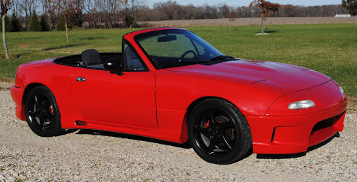 mazda mx 5 miata convertible 1990 red for sale jm1na351xl0124156 mazda miata mx5 restored hard. Black Bedroom Furniture Sets. Home Design Ideas