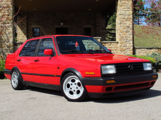 Volkswagen Jetta Sedan 1991 Red For Sale