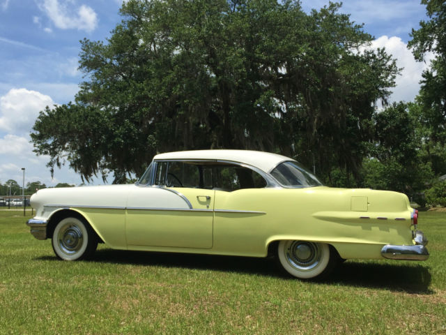 Pontiac catalina coupe 1956 yellow and white for sale for 1956 pontiac 2 door hardtop