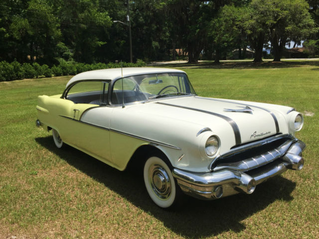 Pontiac catalina coupe 1956 yellow and white for sale for 1956 pontiac 4 door hardtop