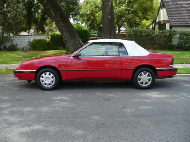 Chrysler lebaron convertible 1991 red for sale 1c3xj4539mg114974 for sale 1991 chrysler lebaron sciox Image collections