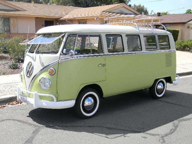 volkswagen bus vanagon van 1967 biege green for sale 247033745 nice original 1967 vw 13 window. Black Bedroom Furniture Sets. Home Design Ideas