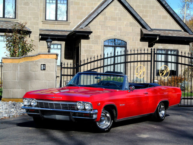 Chevrolet Impala Convertible 1965 Red For 516667062239 No Reserve Ss Super Sport 396 Gm Doented