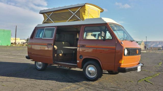 1980 VW Riviera Westfalia Pop Top Camper Van For Sale Volkswagen Bus Vanagon
