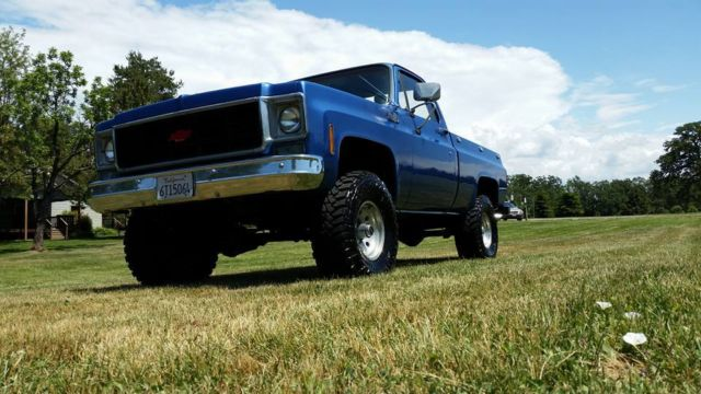 chevrolet c k pickup 1500 square 1973 blue for sale cky143z162847 old chevy pickup restored. Black Bedroom Furniture Sets. Home Design Ideas