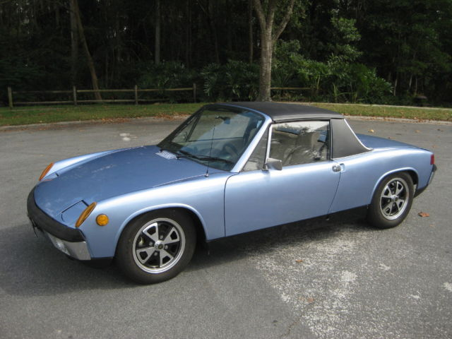 Porsche 914 Convertible 1973 Blue For Sale 4732912686