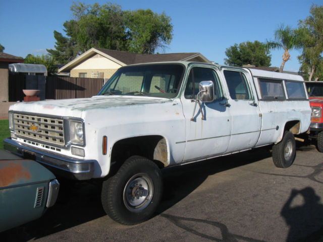 chevrolet c k pickup 2500 crew cab pickup 1976 for sale rare 1976 chevrolet chevy crew cab. Black Bedroom Furniture Sets. Home Design Ideas