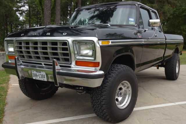 ford f 150 extended cab pickup 1978 black for sale rare 1978 ford f150 supercab lariat 4x4 lifted. Black Bedroom Furniture Sets. Home Design Ideas
