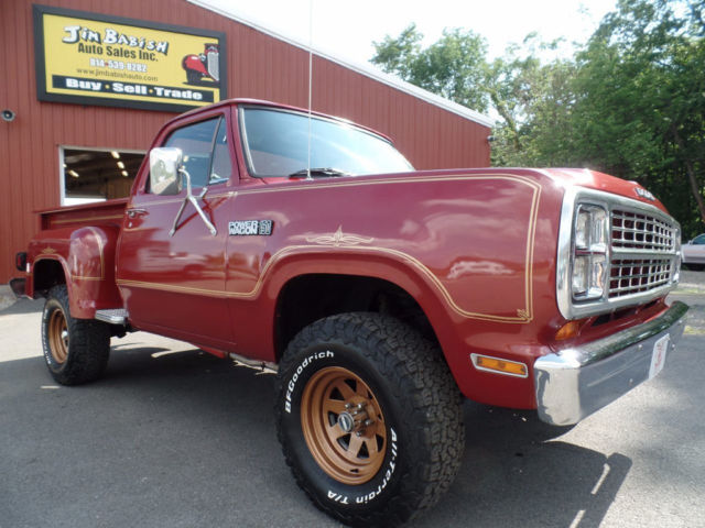 dodge power wagon pickup truck 1979 burgundy for sale w13je9s177030 rare 1979 dodge power. Black Bedroom Furniture Sets. Home Design Ideas