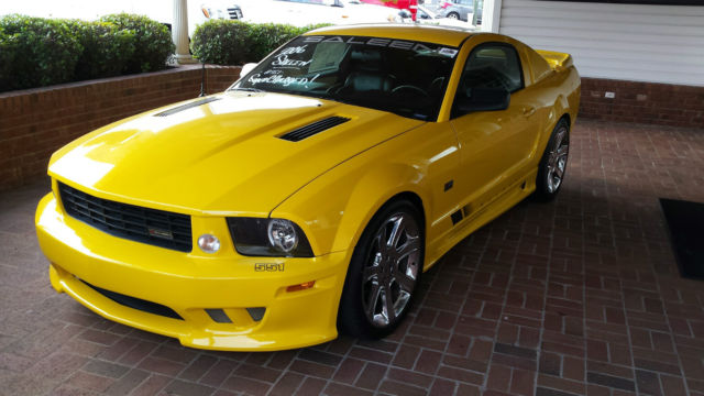 ford mustang coupe yellow for sale 1zvft82h065165431 rare 2006 ford saleen mustang supercharged. Black Bedroom Furniture Sets. Home Design Ideas