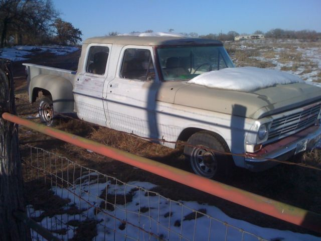 Ford F 250 Crew Cab Pickup 1970 Primer For Sale F25ych90228 Rare
