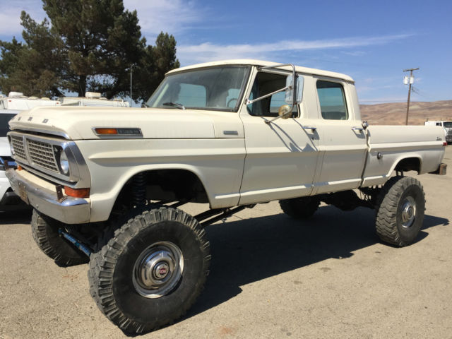 ford f 250 extended crew cab pickup 1970 white for sale f25hch71245
