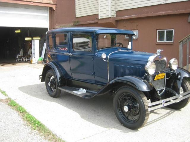 Ford model a 4 door murray sedan 1930 blue for sale for 1930 model a 4 door sedan