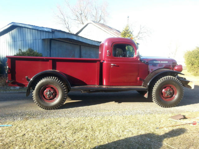 Dodge power wagon standard cab pickup 1960 burgundy for for Motorized wagon for sale