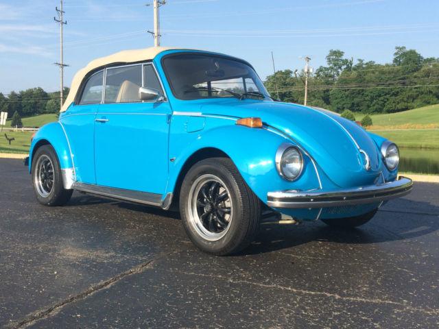 volkswagen beetle classic convertible 1974 blue for sale 1532400957 restored beautiful 1974. Black Bedroom Furniture Sets. Home Design Ideas